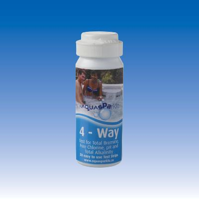 Aquasparkle 4-Way Chlorine Bromine Test Strips