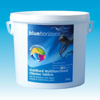Blue Horizons Multifunctional 200g Chlorine Tablets 2kg