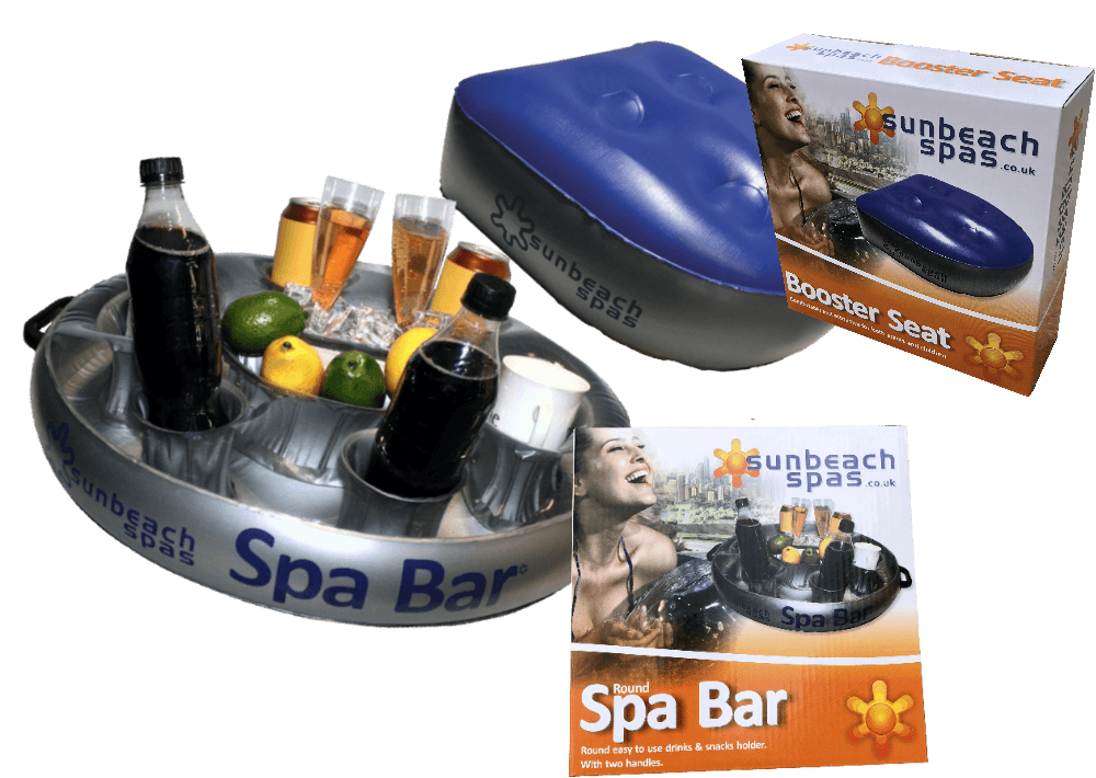 Round Spa bar with packaging and Booster Seat with packaging