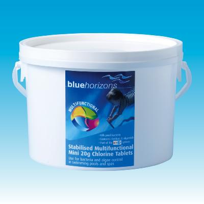 Blue Horizons Multifunctional Mini 20g Chlorine Tablets 5kg